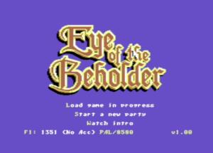 Eye of the Beholder C64 screen